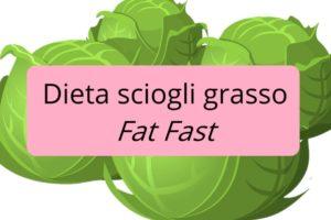 La dieta sciogli grasso Fat Fast: perdi 3 kg a settimana